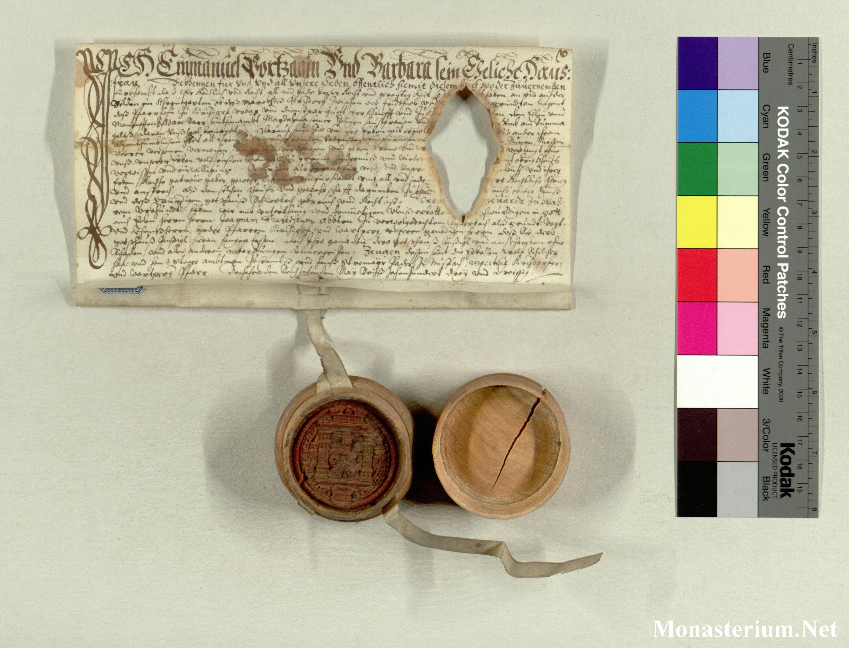 Charter At Stiasch Schlierbachocist 1633 V 16 Lem 401 X