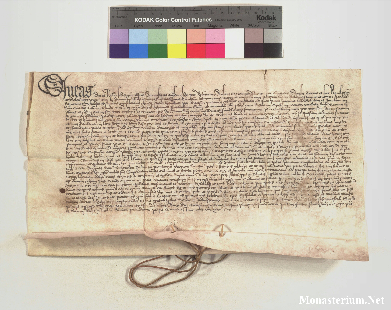 Charter AT-PfAWei Urkunden 1453_12_30 - Monasterium.net